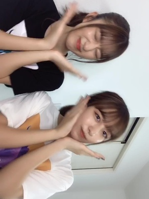 @あさぎーにょ さんの #ハズカシガール 🥰❤️#twins #dance #りかりこ #双子