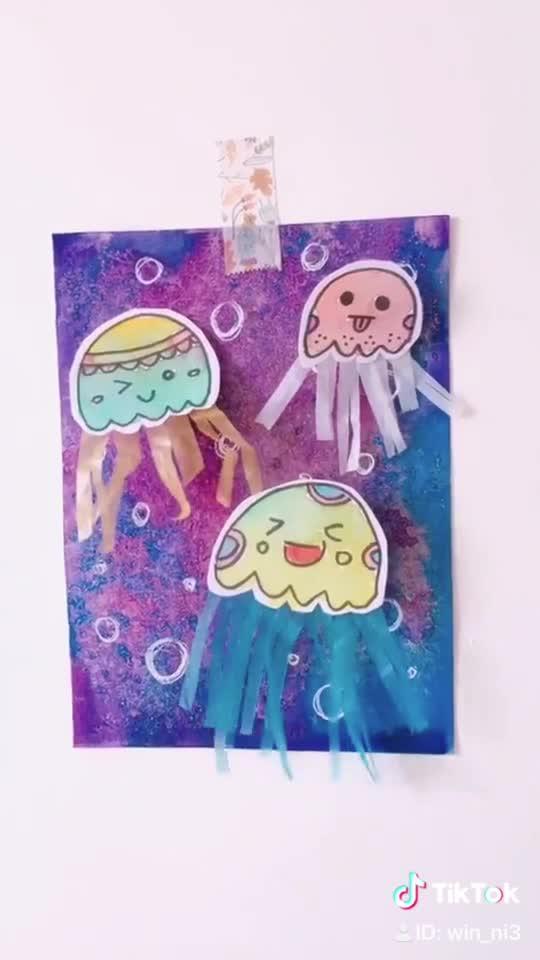 win nie on tiktok come join me on fun jellyfish drawing