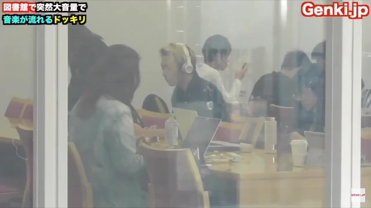 音楽聴こうとしたらヘッドホンに繋がってなかった! #図書館 #library #pranks #わんだふる #日常vlog #ゲンキジャパン #music #ドッキリ